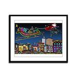 Santa Under New Management Framed Panel Print