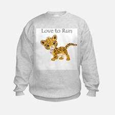 Love to Run Cheetah Sweatshirt