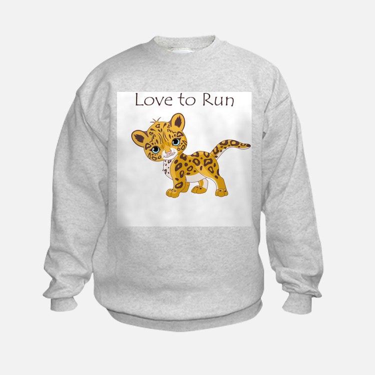 Love to Run Cheetah Sweatshirt
