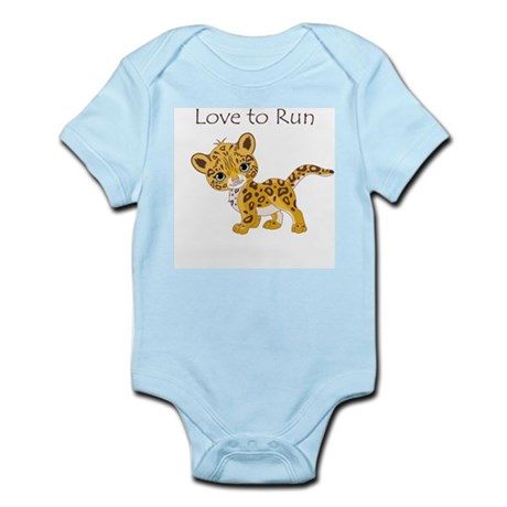Love to Run Cheetah Infant Bodysuit