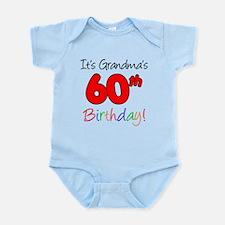 It's Grandma's 60th Birthday Infant Bodysuit