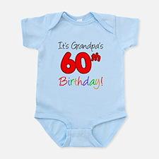 It's Grandpa's 60th Birthday Infant Bodysuit
