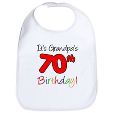 It's Grandpa's 70th Birthday Bib