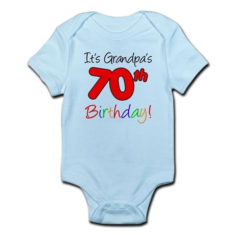 It's Grandpa's 70th Birthday Infant Bodysuit