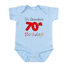 It's Grandpa's 70th Birthday Onesie