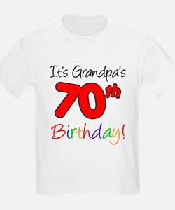 It's Grandpa's 70th Birthday T-Shirt