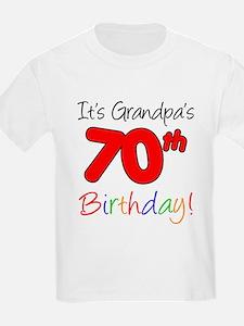 It's Grandpa's 70th Birthday T-Shirt