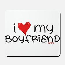 I Heart My Boyfriend Mousepad