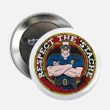 """Respect the 'Stache Police Officer 2 2.25"""" Button"""