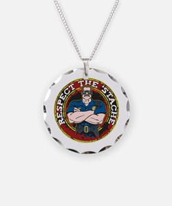 Respect the 'Stache Police Officer 2 Necklace