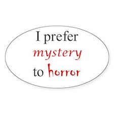 CastleTV Prefer Mystery to Horror Sticker (Oval)
