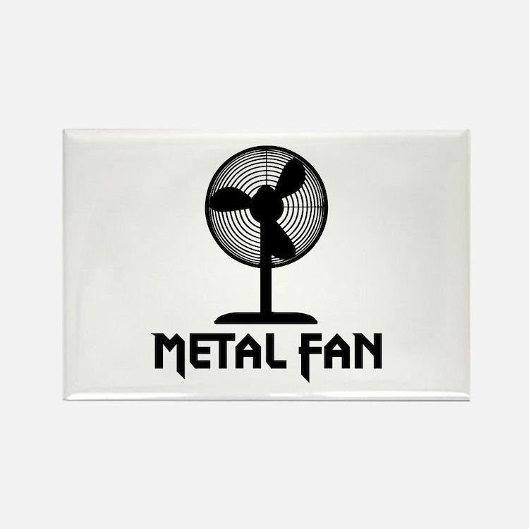 Metal Fan Rectangle Magnet