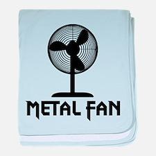 Metal Fan baby blanket