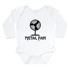 Metal Fan Long Sleeve Infant Bodysuit