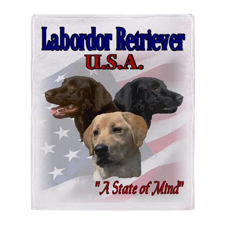 Labrador Retriever Gifts Throw Blanket