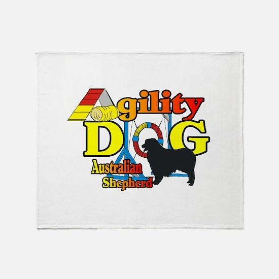 Australian Shepherd Agility Throw Blanket