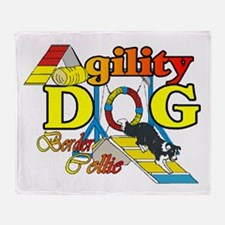 Border Collie Agility Throw Blanket