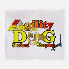 Sheltie Agility Throw Blanket
