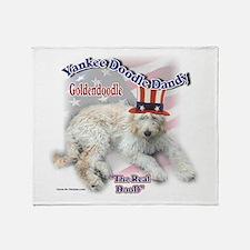 Yankee Goldendoodle Throw Blanket