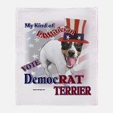 DemocRAT TERRIER Throw Blanket