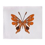 'Butterfly Tattoos Throw Blanket