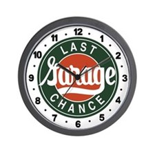 Last Chance Garage Wall Clock