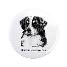 """Bernese Mountain Dog 3.5"""" Button"""