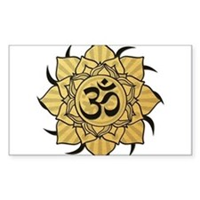 Golden Lotus Aum Decal