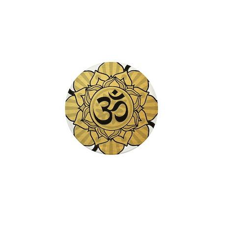 Golden Lotus Aum Mini Button (100 pack)