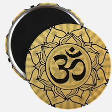Golden Lotus Aum Magnet
