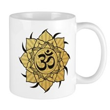 Golden Lotus Aum Mug