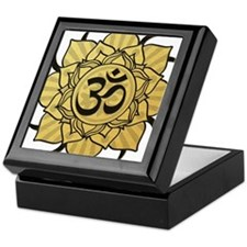 Golden Lotus Aum Keepsake Box