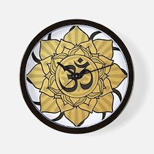 Golden Lotus Aum Wall Clock