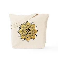 Golden Lotus Aum Tote Bag