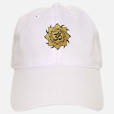 Golden Lotus Aum Baseball Baseball Cap