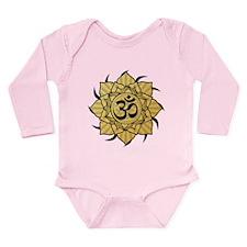 Golden Lotus Aum Long Sleeve Infant Bodysuit