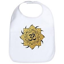 Golden Lotus Aum Bib