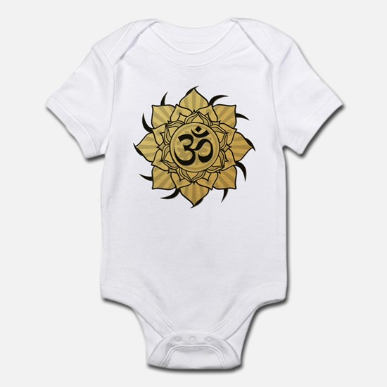 Golden Lotus Aum Infant Bodysuit