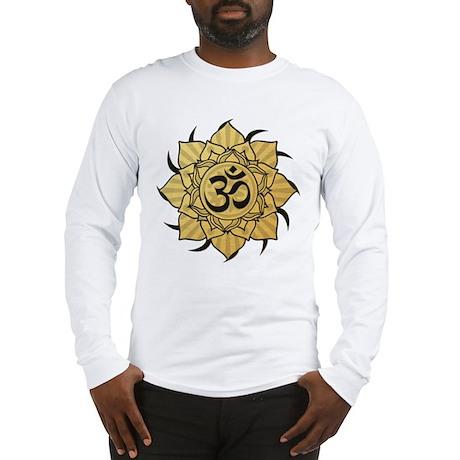 Golden Lotus Aum Long Sleeve T-Shirt