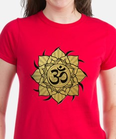 Golden Lotus Aum Tee
