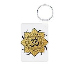 Golden Lotus Aum Keychains