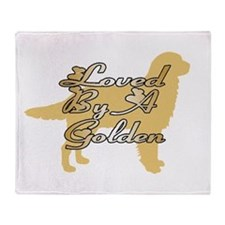 Loved By A Golden Throw Blanket