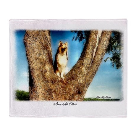Collie Art Gifts_Above All Ot Throw Blanket