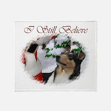 Smooth Collie Christmas Throw Blanket