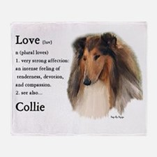 Rough Collie Gifts Throw Blanket