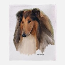 Rough Collie Art Throw Blanket