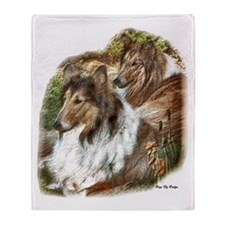Rough Collie Art Gifts Throw Blanket