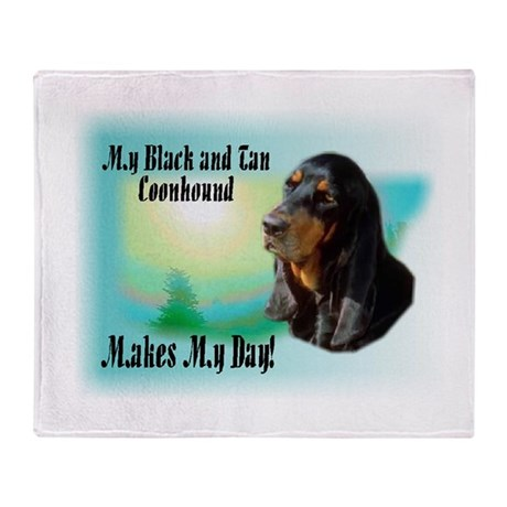 Coonhound Gifts Throw Blanket