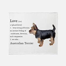 Australian Terrier Gifts Throw Blanket