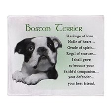 Boston Terrier Gifts Throw Blanket
